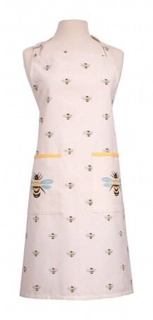 Bees Knees Adult  Apron, Yellow