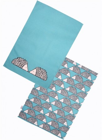 Scion Living Spike Set of 2 Tea Towels Aqua
