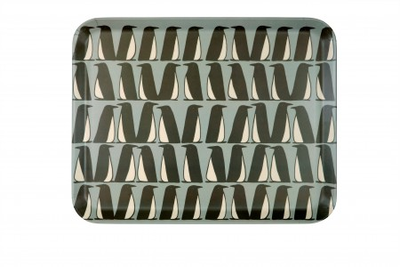 Scion Living Pedro Penguin Bamboo Tray Ice Grey