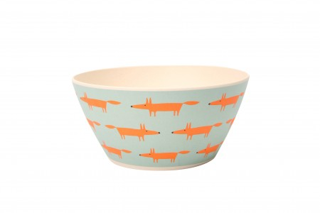 Scion Mr Fox Bamboo Cereal/Snack Bowls Set/4 Blue