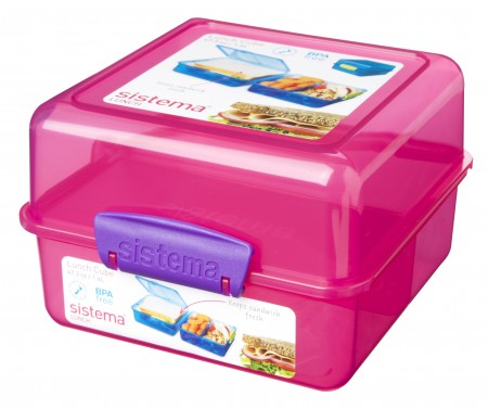 Sistema Trends Lunch Cube 1.4L - Pack of 6.