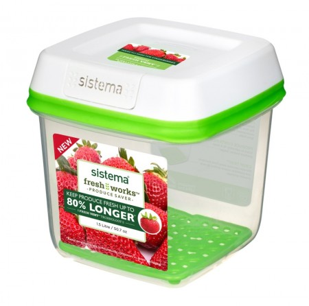 Sistema Freshworks Medium Square Container, 1.5L