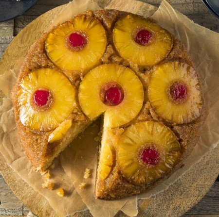 Pineapple Upside- Down Cake with Cherries
