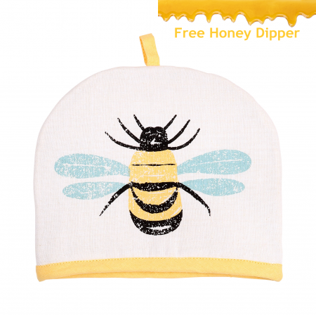 Bees Knees 2 Cup Teapot Tea Cosy, Yellow
