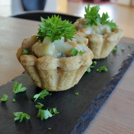 Danish Chicken and Asparagus Tartlets
