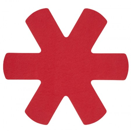 Pan Protectors Set of 3 Red, 34cm