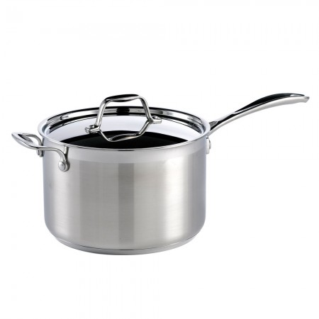 Buy the Dexam Supreme Stainless Steel Saucepan, 22cm, 4.5L from Dexams
