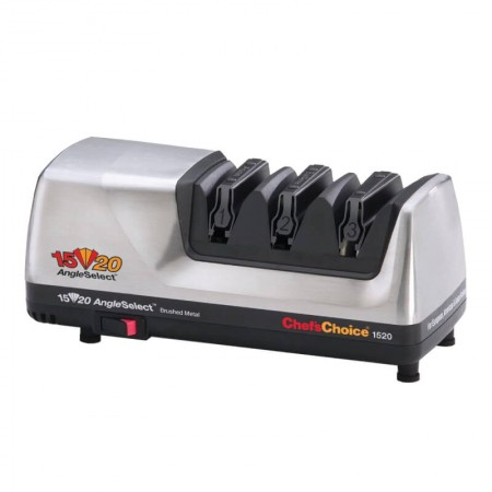 Chef's Choice Electric Knife Sharpener Angle Select Model 1520- Brushed Metal