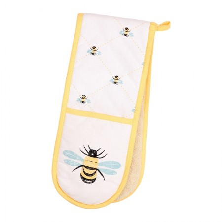 Bees Knees Double Oven Glove, Yellow