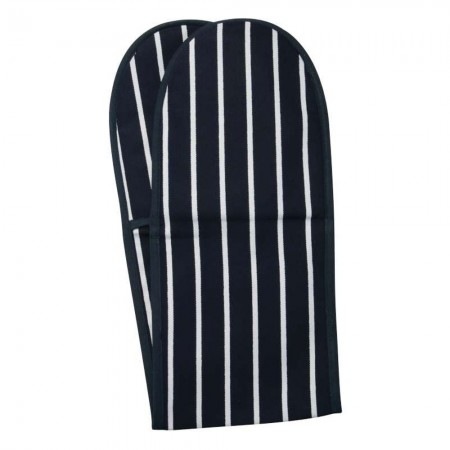 Butcher's Stripe Oven Glove Navy