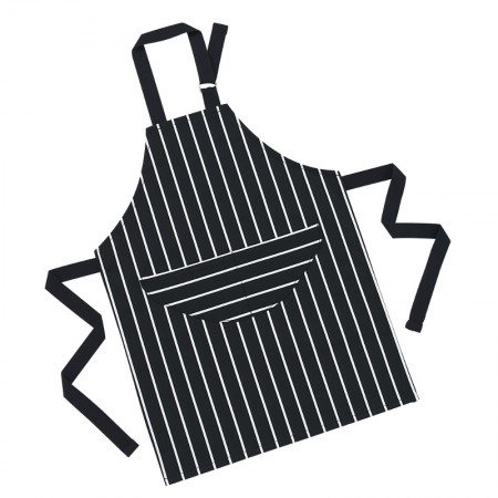 Butcher's Stripe Children's Apron - Navy
