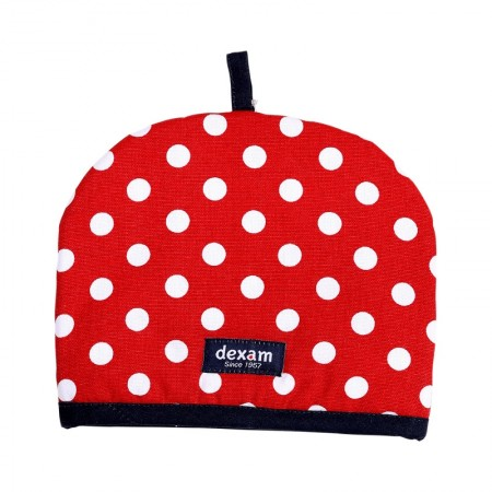 Polka 2 Cup Teapot Tea Cosy, Red