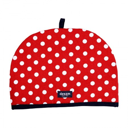 Polka 6 Cup Teapot Tea Cosy, Red
