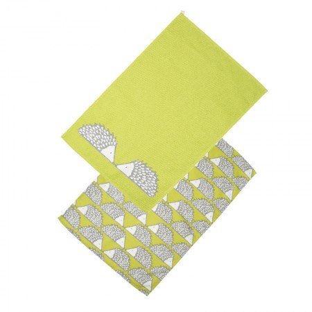 Buy the Scion Living Spike Tea Towels – Green, Set of 2 - Dexam
