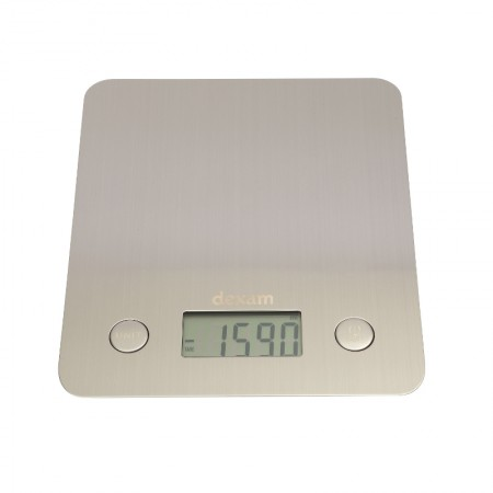 Digital Kitchen Scale, Steel (5kg)