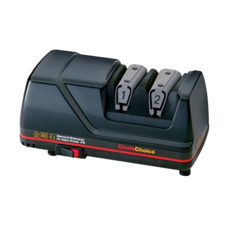 ChefsChoice Model 316 - an electric knife sharpener you can use for faster sharpening of Asian knives with 100% diamond abrasives