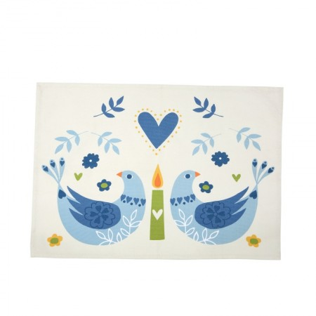 Woodland Birds Tea Towel