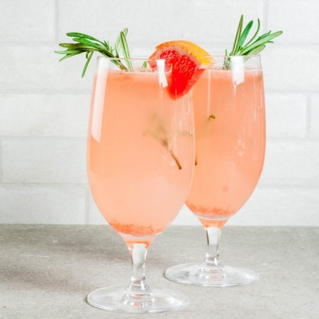Champagne and Grapefruit Cocktail