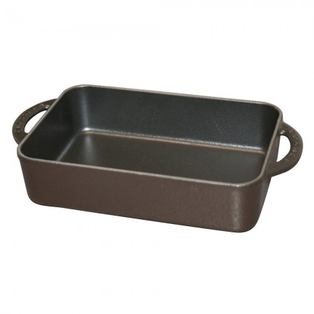 Chasseur Cast Iron Mini Rectangular Dish Black 18.5cm