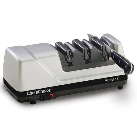 Chef'sChoice Trizor XV EdgeSelect Sharpener Platinum with knife