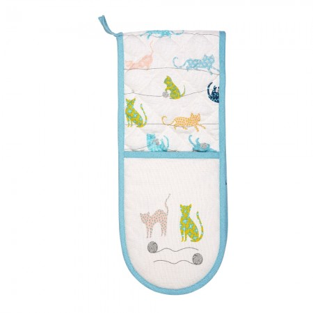 Dexam Curious Cats Double Oven Glove