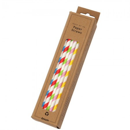 Paper Polka Dot Straws, Pack of 50