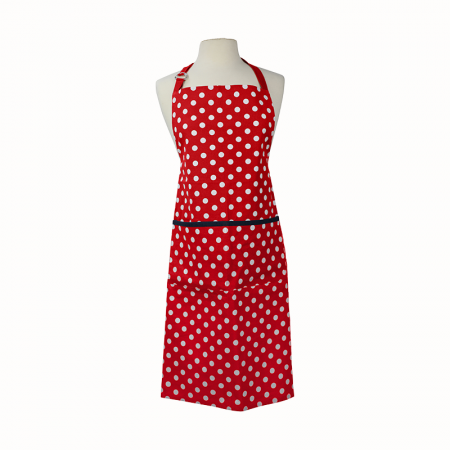 Dexam Polka Adult Apron Red
