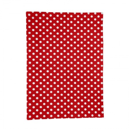Dexam Polka Tea Towel Red