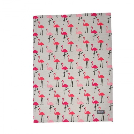 Flamingo Set of 2 Tea Towels, Pink