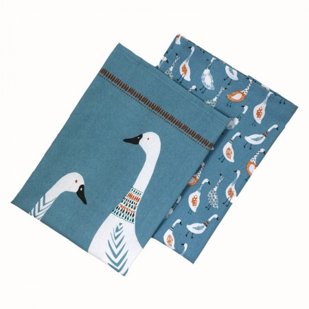 Dexam Giggling Geese Set of 2 Tea Towels Combined