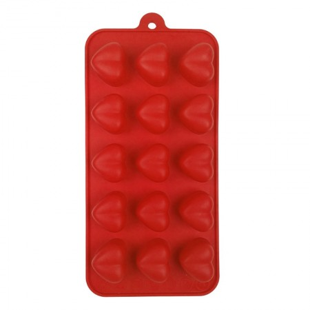 Chocolate Silicone Red Mould, Heart