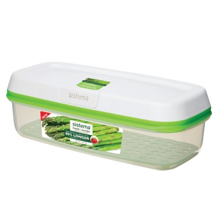 Sistema Freshworks Long Rectangle Container, 1.9L