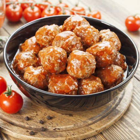 homemade meat balls with pork