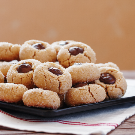 Nutella Thumbprint Shortbread