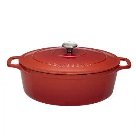 Chasseur Oval Casserole, 29cm - Chilli Red