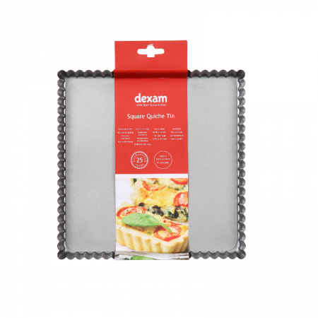 Dexam Square Quiche Tin 23cmx23cm