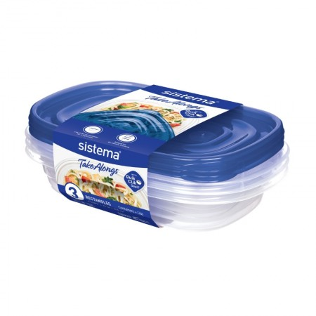 Sistema TakeAlongs Rectangular 950ml, Pack of 3