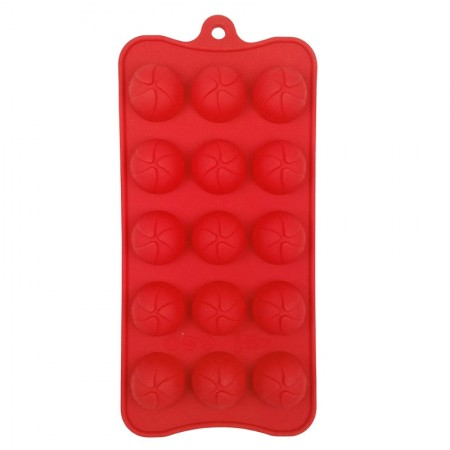 Chocolate Silicone Red Mould, Round