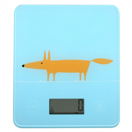 Mr Fox blue printed kitchen scales by Scion Living at Dexam