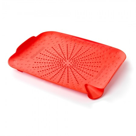 New Soda Sinkstation Flat Colander, Red