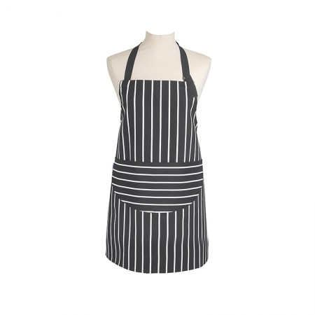 Rushbrookes slate grey striped apron Dexam
