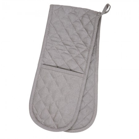 Double Oven Glove- Love Colour Slate Grey