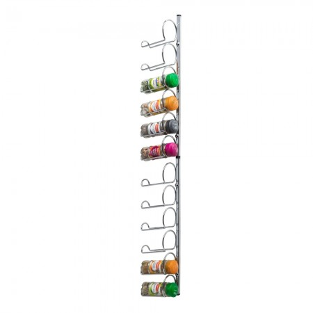 Hahn Pisa Chrome 12 jar Wall / Cupboard spice rack