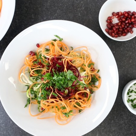 Beetroot and Carrot Spiral Salad