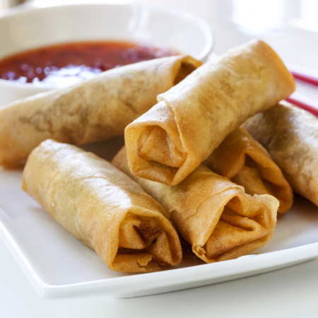 Hoisin Duck Spring Rolls