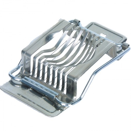 Stainless steel egg slicer