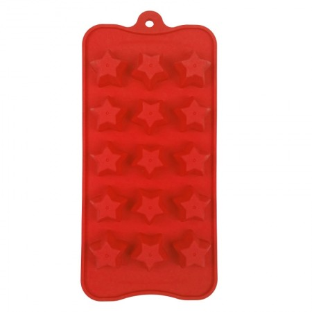 Chocolate Silicone Red Mould, Star