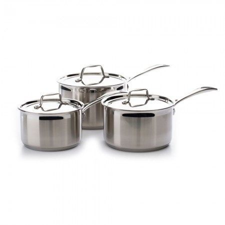 Buy the Dexam Supreme 3-Piece Stainless Steel Saucepan Set and Lids from Dexam Online