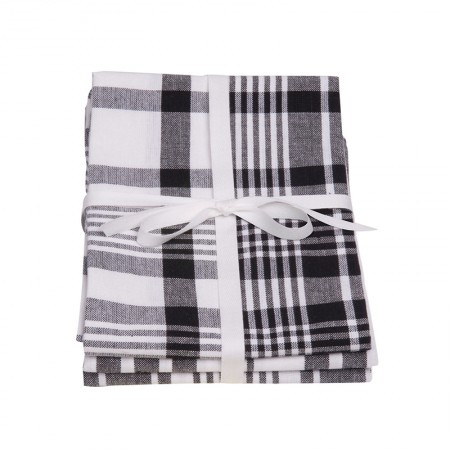 Tea Towels - Colour Centre True Black Jumbo, Set of 3