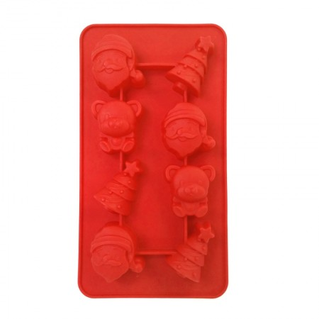 Chocolate Silicone Red Mould, Yuletide